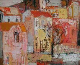 Plovdiv houses, 24х30, oil on canvas