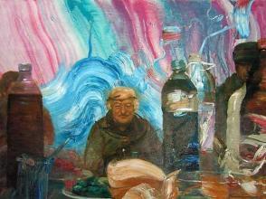 """""""Заспалият Пан"""", 60х80, маслени бои/платно"""