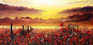 Poppies, 50х100, oil on canvas