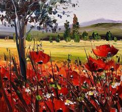Poppies, 30х30, oil on canvas