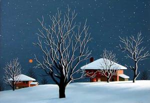 Ivan Hristov-Groga, <em>Christmas Eve,</em> 30х40