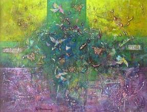 <p>Birds and Butterflies, 50х65, acrylic on canvas</p>