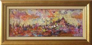 <p>Landscape with vineyard, 19х50, acrylic on canvas</p>