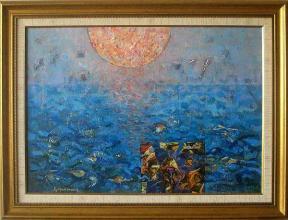 Sunrise, 46х65, acrylic on canvas