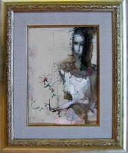 """""""Жена с цвете"""", 27х19"""