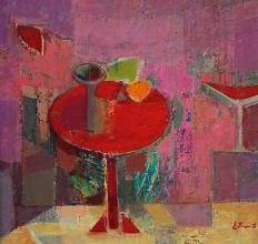Red table, 30х30