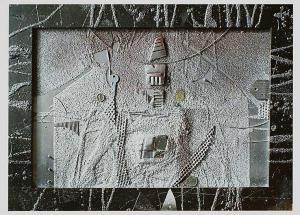 """Васко Тенев, """"Пейзаж в сребро"""", стъкло/смесена техника"""
