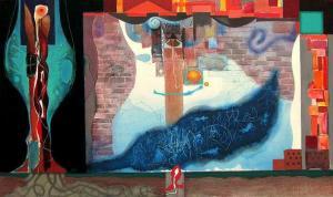 """""""Сянка на стената"""", 57х95"""
